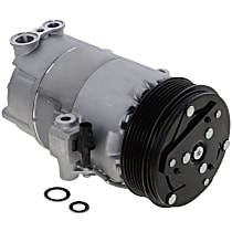 A/C Compressor, With clutch, 6-Groove Pulley