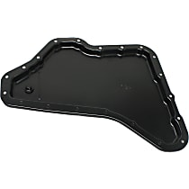 Transmission Pan - Black, Iron, Direct Fit, Sold individually