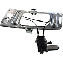 Front, Driver Side Power Window Regulator, With Motor - Coupe