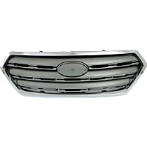 Grille Assembly - Painted Silver Shell with Gray Insert