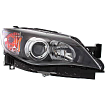 Passenger Side Halogen Headlight, With bulb(s) - Except 08-09 2.5 GT/Sport/Outback Sport Models