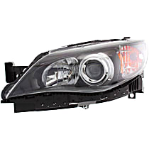 Driver Side Halogen Headlight, With bulb(s) - Except 08-09 2.5 GT/Sport/Outback Sport Models