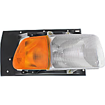 Passenger Side Headlight, With bulb(s) - Except Sealed Beam, Clear & Amber Lens
