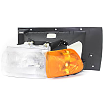 Driver Side Headlight, With bulb(s) - Except Sealed Beam, Clear & Amber Lens