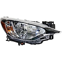 Passenger Side Headlight, With bulb(s) - (Base/L/LE/Premium Model), Sedan