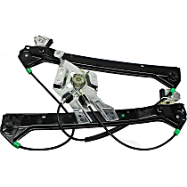 Front, Driver Side Power Window Regulator, Without Motor, With Finger Protection, Sedan/Wagon