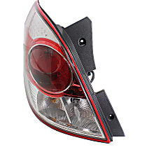 Driver Side Tail Light, With bulb(s) - Clear & Red Lens, Red Line Model