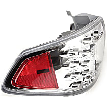 Driver Side, Outer Tail Light, Without bulb(s) - Clear & Red Lens, Wagon