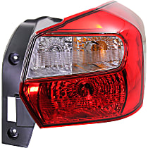 Passenger Side Tail Light, With bulb(s) - Clear & Red Lens, Wagon