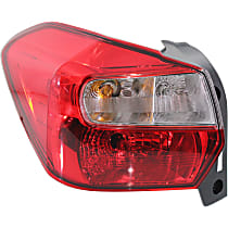 Driver Side Tail Light, With bulb(s) - Clear & Red Lens, Wagon