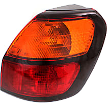 Passenger Side, Outer Tail Light, With bulb(s) - Amber & Red Lens, Wagon