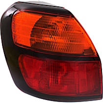Driver Side, Outer Tail Light, With bulb(s) - Amber & Red Lens, Wagon