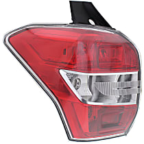 Driver Side Tail Light, Without bulb(s) - Clear Lens