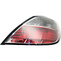 Passenger Side Tail Light, Without bulb(s) - Clear & Red Lens, Hatchback