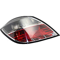 Driver Side Tail Light, Without bulb(s) - Clear & Red Lens, Hatchback