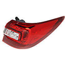 CAPA Certified Passenger Side, Outer Tail Light