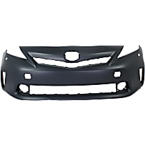 Front Bumper Cover, Primed - 2012-2014 Toyota Prius V - Model w/ Halogen Headlights , w/ Pre-Collision System (PCS), CAPA CERTIFIED