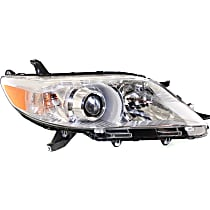 Passenger Side Halogen Headlight, With bulb(s) - 11-14 Sienna (Base/L/LE/Limited/XLE)/ 15-19 w/o LED DRL