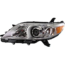 Driver Side Halogen Headlight, With bulb(s) - 11-14 Sienna (Base/L/LE/Limited/XLE)/ 15-19 w/o LED DRL, CAPA CERTIFIED