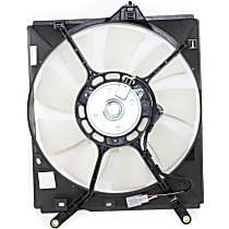 OE Replacement A/C Condenser Fan - Fits Passenger Side, Fits Radiators w/ 1-inch Core Thickness