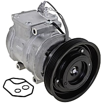 A/C Compressor, With clutch, 5-Groove Pulley