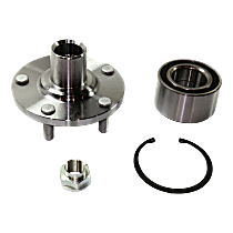 Front, Driver or Passenger Side Wheel Hub and Bearing Assembly, For FWD with 3.0L V6 Engine