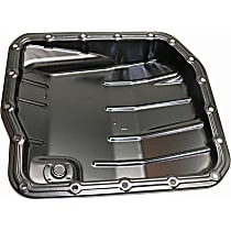 Transmission Pan - Black, Steel, Direct Fit, Sold individually