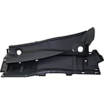 Replacement REPT400302 Wiper Cowl Grille - Textured Black, Direct Fit