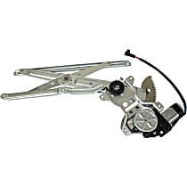 Front, Driver Side Power Window Regulator, With Motor - Regular/Access Cab