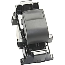 Window Switch - Front Passenger Side, Rear Driver or Passsenger Side, Black and White, 1-Button