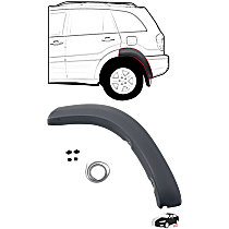 Fender Trim - Rear, Driver Side, Paint to Match, Rear Section (Mounts on Quarter Panel)
