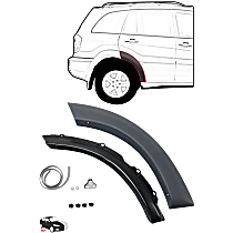 Fender Trim - Rear, Passenger Side, Paint to Match, Front Section (Mounts on Door)