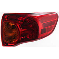 Passenger Side Tail Light, With bulb(s) - Amber & Red Lens, Canada Built