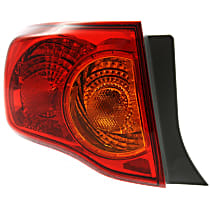 Driver Side Tail Light, With bulb(s) - Amber & Red Lens, Canada Built