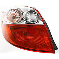 Driver Side Tail Light, With bulb(s) - Clear & Red Lens
