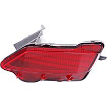CAPA Certified Rear, Passenger Side Bumper Reflector