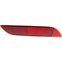 Rear, Passenger Side Bumper Reflector