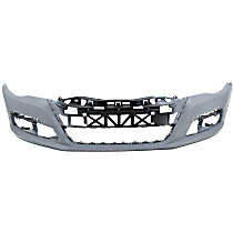 Front Bumper Cover, Primed - w/ Park Sensor Holes, w/o Headlight Washer Holes