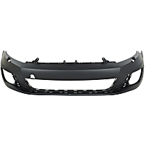 Bumper Cover - Front, 1 Piece, Paint to Match, For Hatchback Models Without Park Assist, With Headlight Washers, With Tow Hook Hole, CAPA Certified