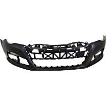 Front Bumper Cover, Primed - w/o Park Sensor & Headlight Washer Holes, 3.6L Engine