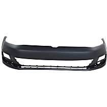 Front Bumper Cover, Primed - w/o Headlight Washer Holes & Parallel Park Assist