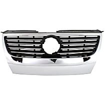 Grille Assembly - Chrome Shell with Black Insert, without Park Distance Control System, without Park Assist System, with Chrome Insert Molding