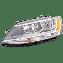 Sedan, Driver Side Headlight, With bulb(s), CAPA CERTIFIED