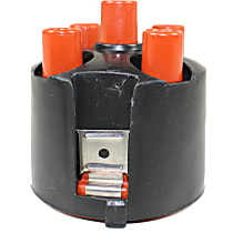 Distributor Cap - Black and orange, Direct Fit, Sold individually