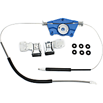 Front, Passenger Side Power Window Regulator, Without Motor, Hatchback