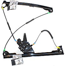 Front, Driver Side Power Window Regulator, Without Motor