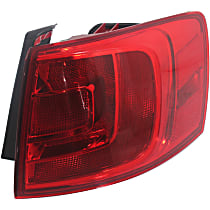 Hybrid (13-14)/Sedan(11-18), Passenger Side, Outer Tail Light, With bulb(s) - Non-LED, For Models Without Rear Fog Lights
