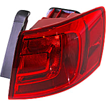 Hybrid (13-14)/Sedan(11-18), Passenger Side, Outer Tail Light, With bulb(s) - Non-LED, For Models Without Rear Fog Lights, CAPA CERTIFIED