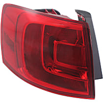 Hybrid (13-14)/Sedan(11-18), Driver Side, Outer Tail Light, With bulb(s) - Non-LED, For Models Without Rear Fog Lights