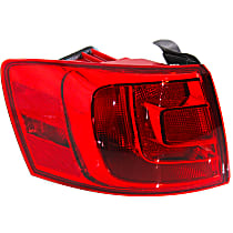 Hybrid (13-14)/Sedan(11-18), Driver Side, Outer Tail Light, With bulb(s) - Non-LED, For Models Without Rear Fog Lights, CAPA CERTIFIED
